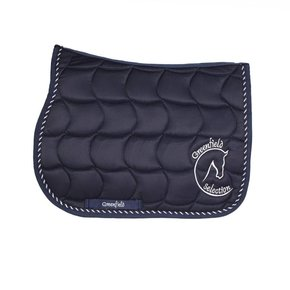 Saddle pad pony - navy/navy-mix with GF logo