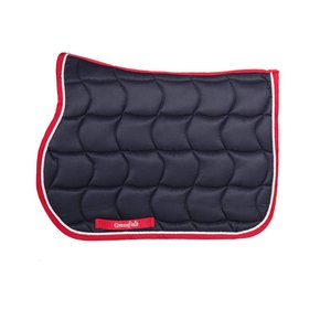 Saddle pad pony - navy/red-white