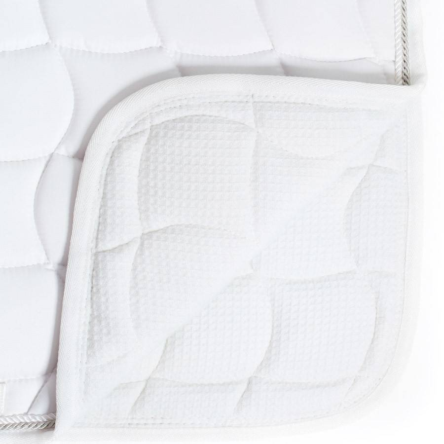 Greenfield Selection Tapis de selle dressage - blanc/blanc-or