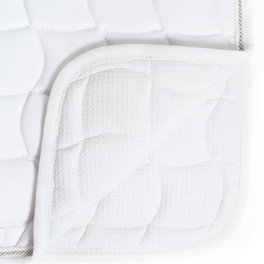 Greenfield Selection Tapis de selle dressage - blanc/gris-blanc/gris argent