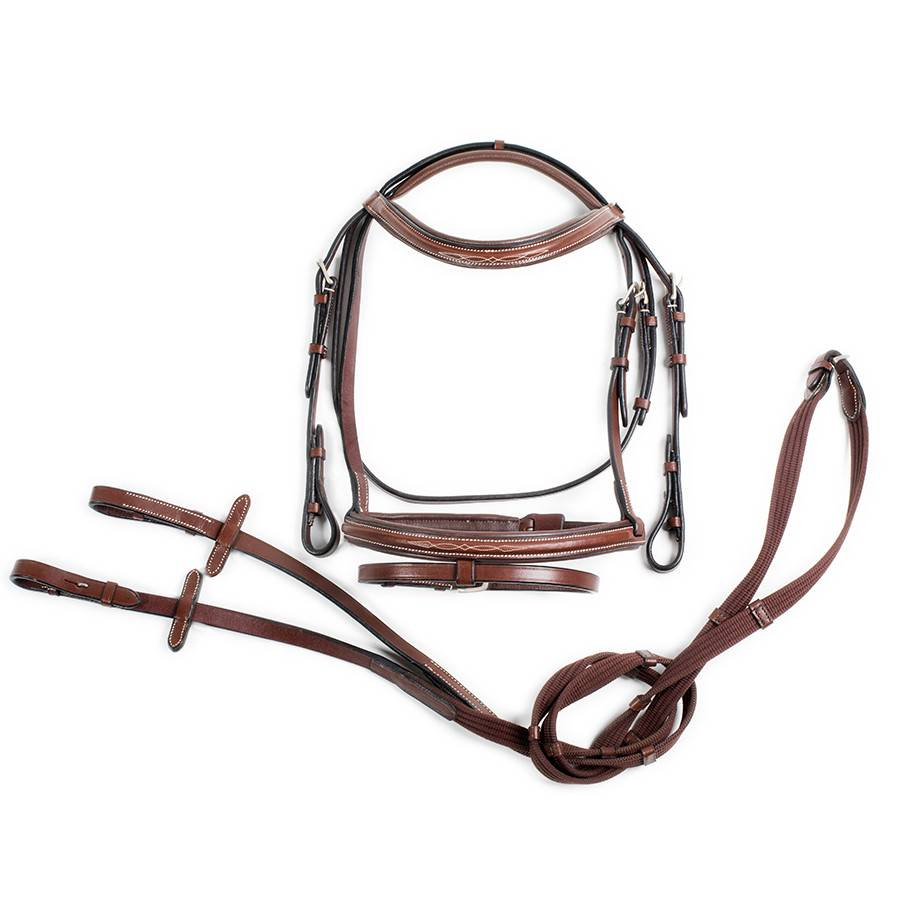 Greenfield Selection P/703/Q1/R1 - Hoofdstel pony met gecombineerde neusriem