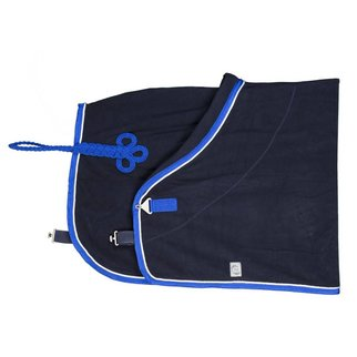 Greenfield Selection Fleece deken pony - blauw/koningsblauw-wit