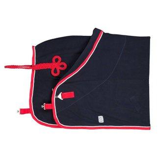 Greenfield Selection Fleece deken pony - blauw/rood-wit