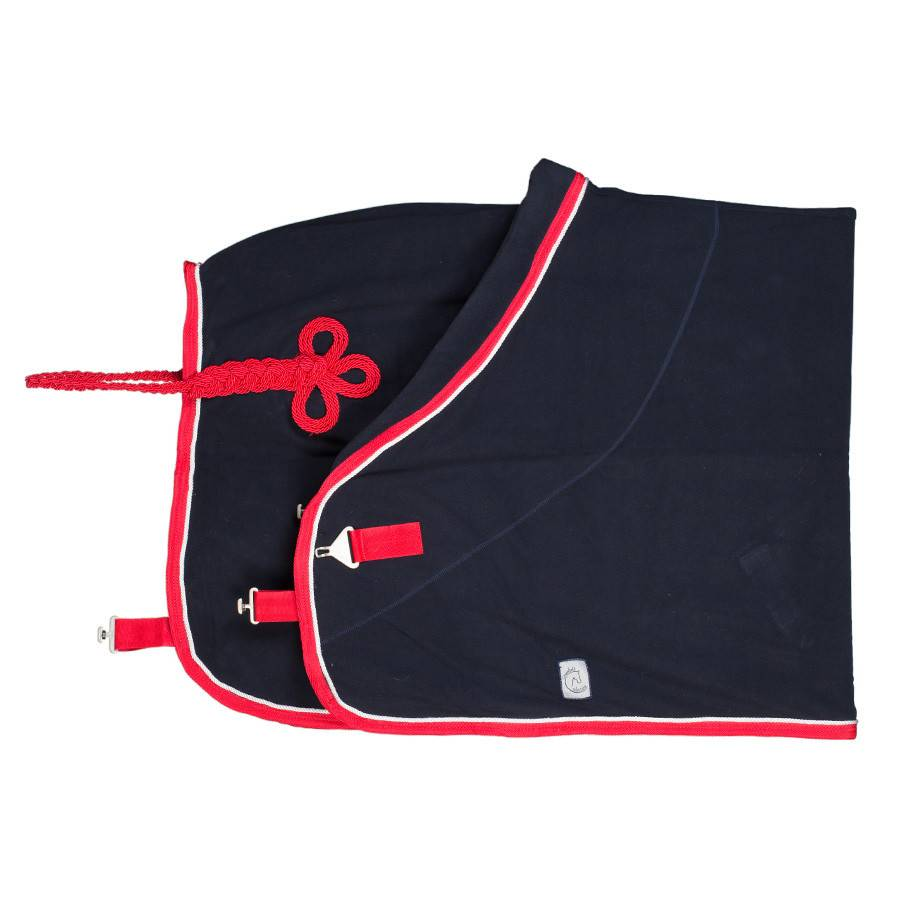 Greenfield Selection Fleece deken pony - blauw/rood-wit