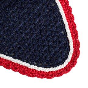 Bonnet poney - bleu marine/rouge-blanc