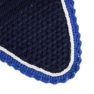 Greenfield Selection Bonnet poney - bleu marine/bleu royal-blanc