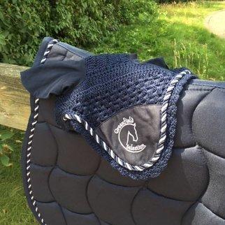 Greenfield Selection Bonnet poney - bleu marine/bleu marine-mix avec logo GF