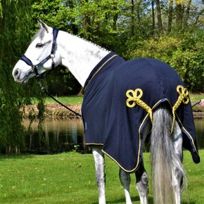 Fleece publicity rug - navy/navy-gold