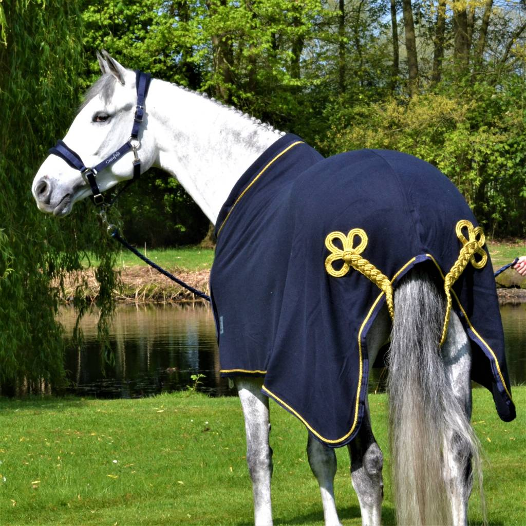 Greenfield Selection Fleece publicity rug - navy/navy-gold