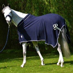 Fleece publiciteitsdeken - blauw/blauw-zilver met GF logo