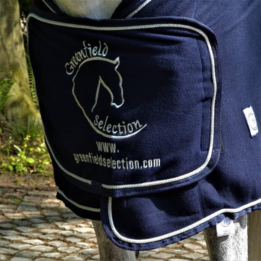 Greenfield Selection Fleece publicity rug - navy/navy-silver with GF logo