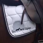 Greenfield Selection Poney - Tapis de selle piping - noir/noir-blanc
