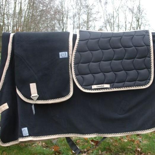 Greenfield Selection Couverture laine - noir/beige-mix