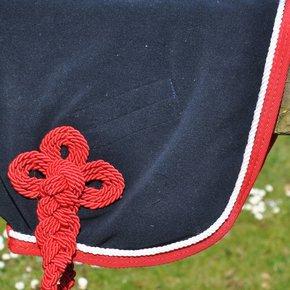 Woolen rug - navy/red-white