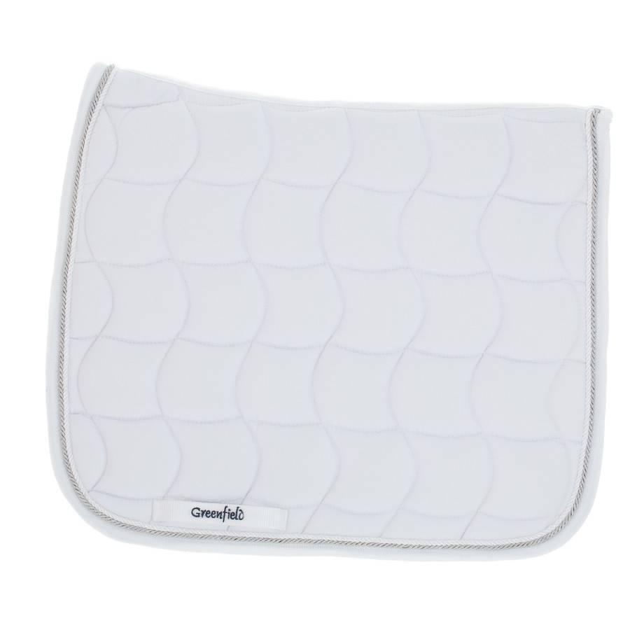 Greenfield Selection SPD/2 - Tapis de selle dressage - blanc/blanc-blanc/gris argent