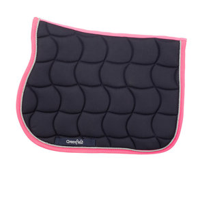 Saddle pad pony – navy/fushia-silvergrey