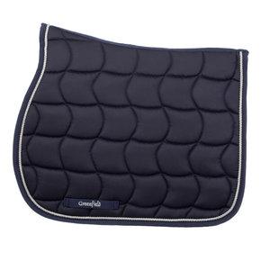 Saddle pad – navy/navy-silvergrey