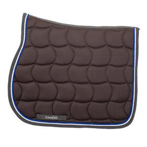 Saddle pad - grey/grey-white/royalblue