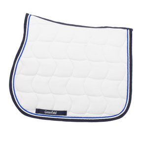 Saddle pad - white/navy-white/royalblue
