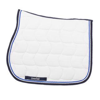 Greenfield Selection Zadeldoek - wit/blauw-wit/koningsblauw