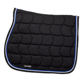 Zadeldoek - zwart/zwart-wit/koningsblauw