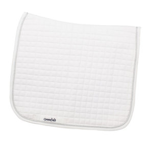 Saddle pad cookie dressage - white/white-silver