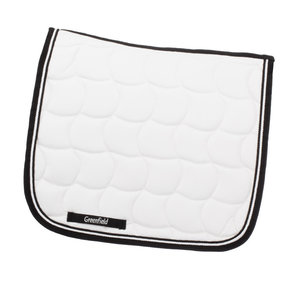 Saddle pad dressage - white/black-white/black