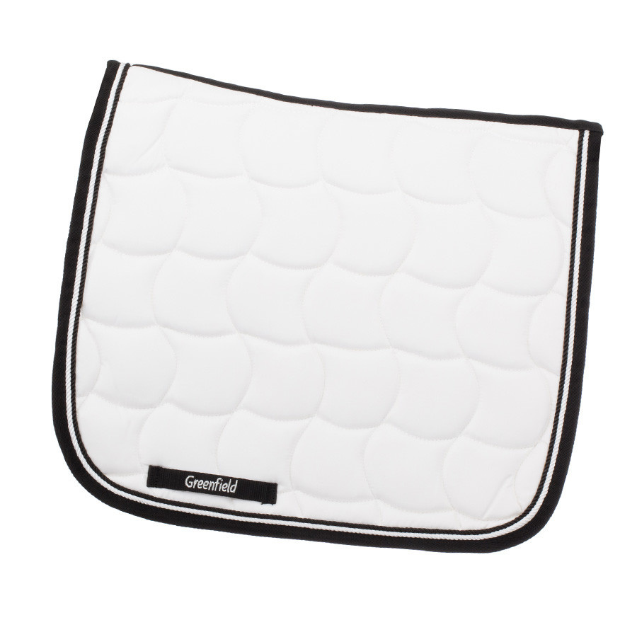 Greenfield Selection Tapis de selle dressage - blanc/noir-blanc/noir