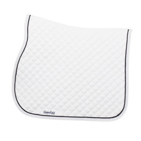 Saddle pad piping - white/white-navy
