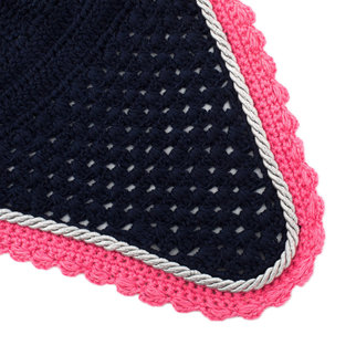 Greenfield Selection Bonnet poney - bleu marine/fushia-gris argent