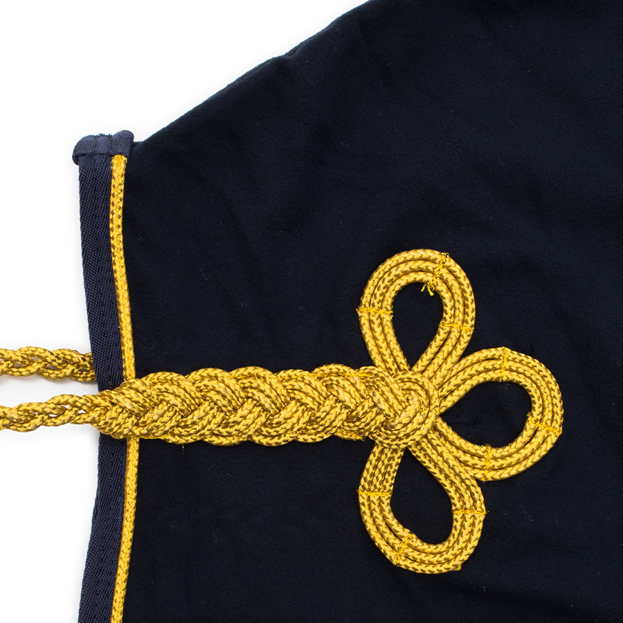 Greenfield Selection Fleece publicity rug - navy/navy-gold with GF logo