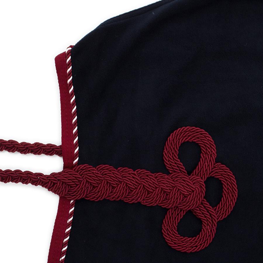 Greenfield Selection Fleece deken met nek - blauw/bordeaux-mix