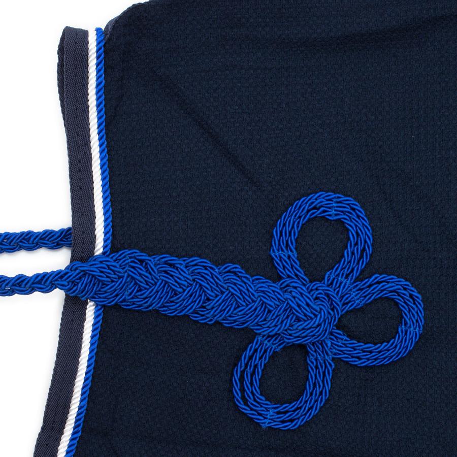 Greenfield Selection Honeycomb rug - navy/navy-white/royalblue