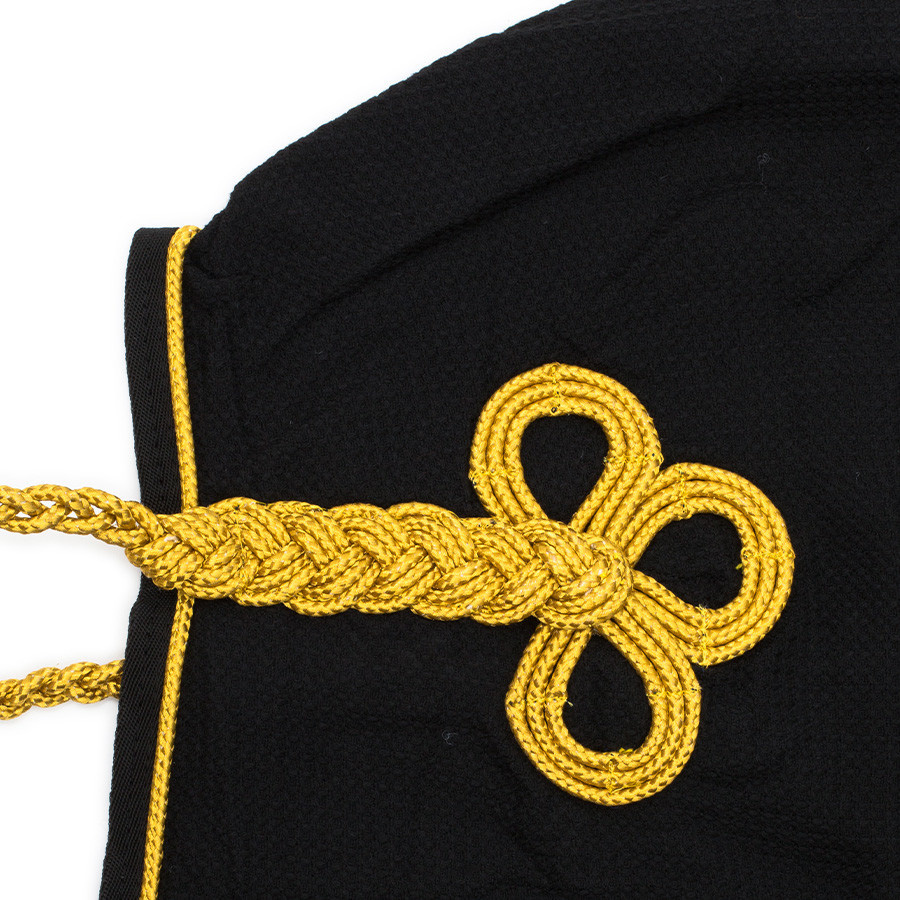 Greenfield Selection Honeycomb rug - black/black-gold