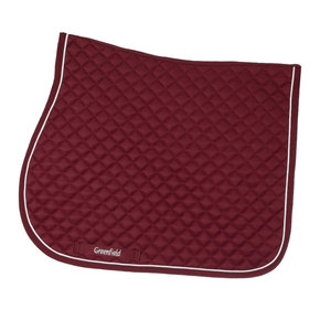 Saddle pad piping - burgundy/burgundy-white