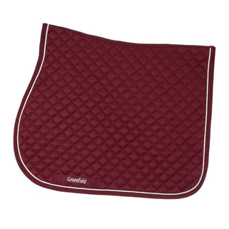 Greenfield Selection Tapis de selle piping - bordeaux/bordeaux-blanc