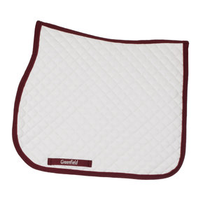 Saddle pad piping - white/burgundy-burgundy