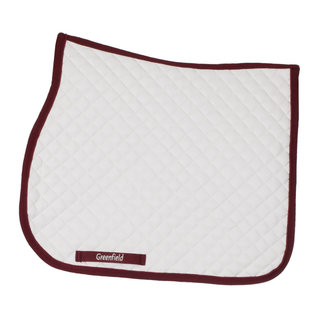 Greenfield Selection Tapis de selle piping - blanc/bordeaux-bordeaux