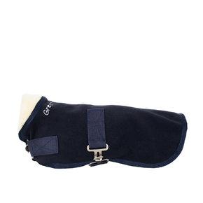 Hondendeken fleece teddy kraag - blauw