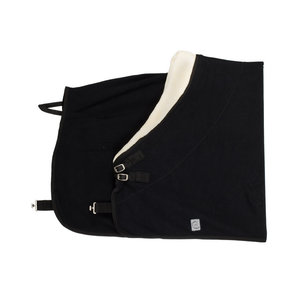 Fleece teddy collar - black
