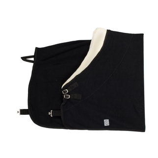 Greenfield Selection Couverture polaire col teddy - noir