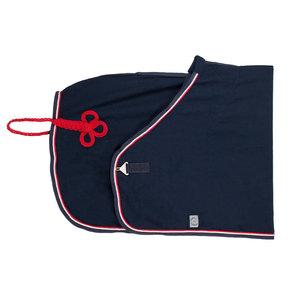 Honeycomb rug - navy/navy-white/red