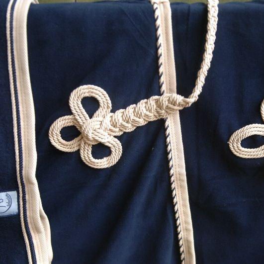 Greenfield Selection Wollen deken - blauw/beige-mix