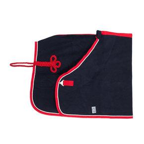 Wollen deken - blauw/rood-wit