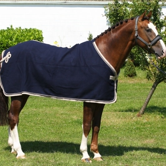 Greenfield Selection Wollen deken - blauw/beige-blauw/beige