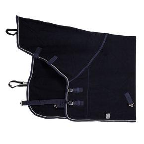 Fleece deken met hals - blauw/blauw-zilvergrijs