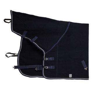 Greenfield Selection Fleece deken met nek - blauw/blauw-zilvergrijs