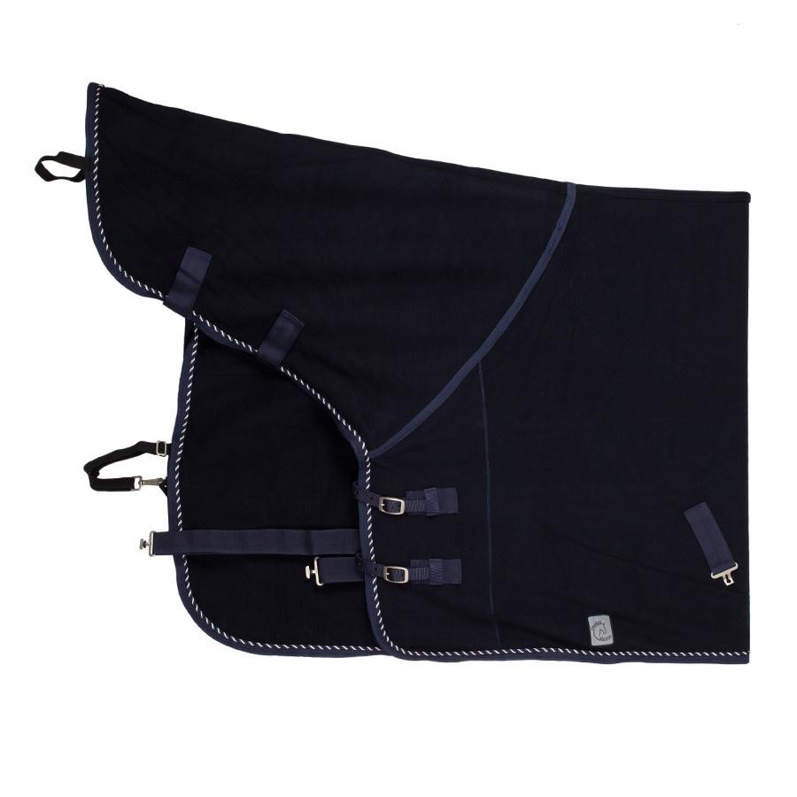 Greenfield Selection Fleece deken met nek - blauw/blauw-mix