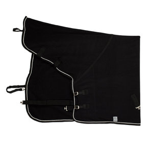 Fleece rug with neckcover - black/black-silvergrey