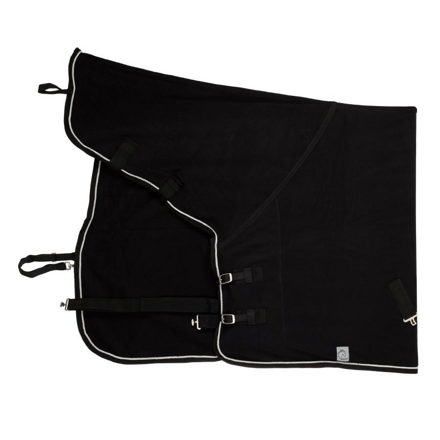 Greenfield Selection Fleece deken met hals - zwart/zwart-zilvergrijs
